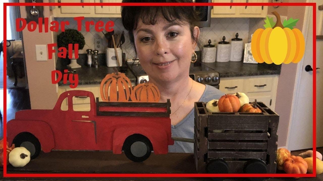 Dollar Tree Fall Diy | Dollar Tree Red Truck Decor Diy