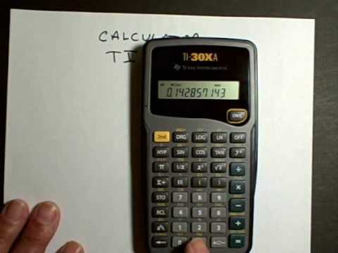 calculator ti xa part  calculator ti 30xa part 1