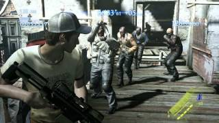 Resident Evil 6 X Left 4 Dead Crossover 60fps, Ellis and Nick Gameplay