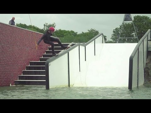 Wakeboarding on street style features - Red Bull Rising High