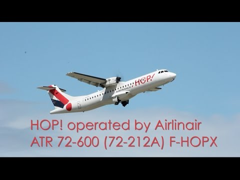 HOP! ATR 72-600 - F-HOPX taxi and takeoff at EuroAirport Basel Mulhouse Freiburg