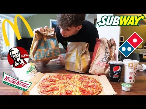EVERY FAST FOOD CHALLENGE! | Epic Cheat Meal | 5000 Calories