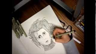 Edward Scissorhands Time Lapse Drawing