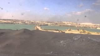 مواقع الحفر فى القطاع الجنوبي بقناة السويس الجديدة قبل دخول الكراكات فبراير2015