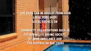 13. Protect Your Pool, Protect Your Kids - Cardio-Pulmonary Resuscitation (CPR) Sign