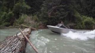 Jumping logs in a Jetboat
