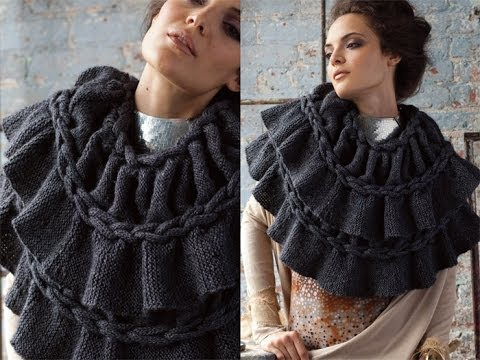 Vogue Knitting Cowl Pattern : #9 Woven Braided Cowl - Vogue Knitting Holiday 2010 - YouTube