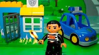 Мультик про игрушечную полицейскую машину - Спички! Развивающие поучительные игрушечные мультики