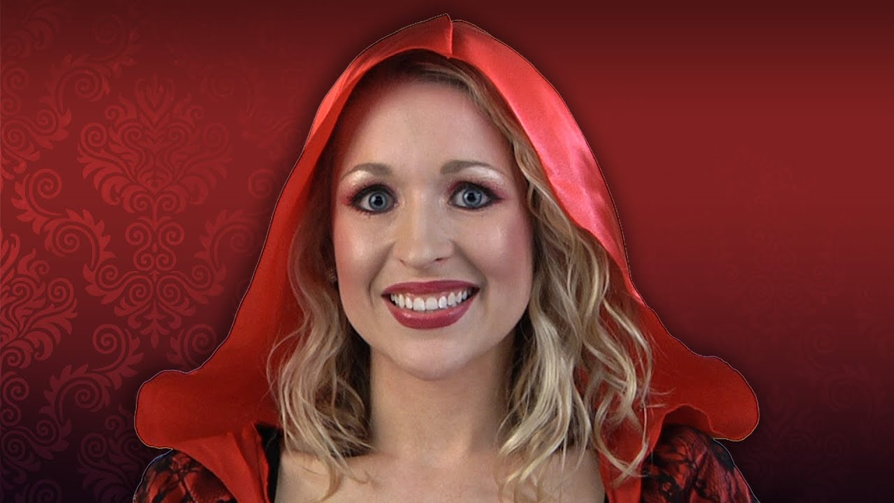 Red Riding Hood Costume Makeup Tutorial - YouTube