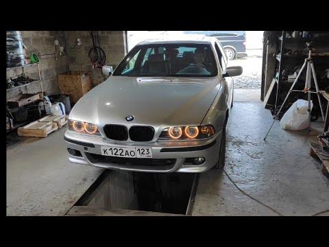 BMW E39 M57 установка мотора с разборки !!! Поехал 230 км/ч