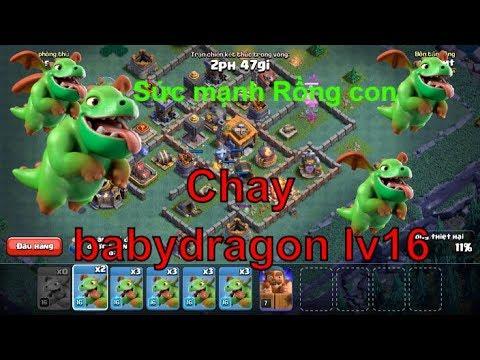NMT | Clash of clans | Combo troll chay Babydragon lv16 Bên đảo