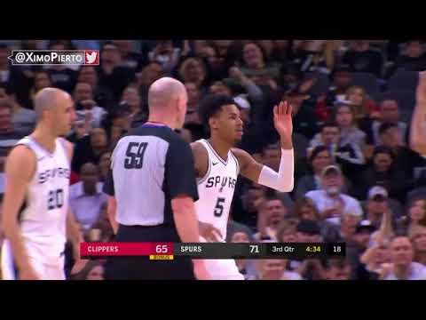 Los Angeles Clippers vs San Antonio Spurs - Melhores Momentos (18 de Dezembro de 2017)