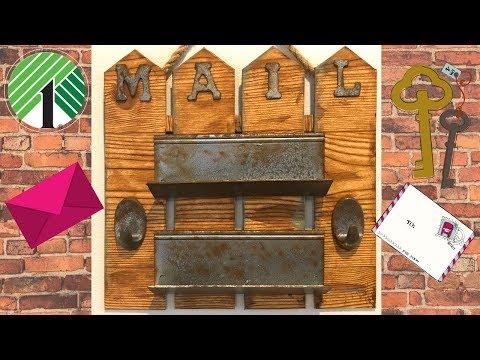 Dollar Tree Mail Holder DIY