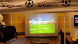 Verizon Golazo 3D stereoscopic World Soccer Cup game @ stores