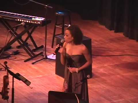 Karina pasian performs National Anthem at Hillary Clinton event