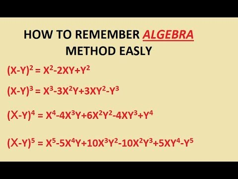 HOW TO REMEMBER ALGEBRA FORMULA    EASY TRICK TO REMAINED ALGEBRA