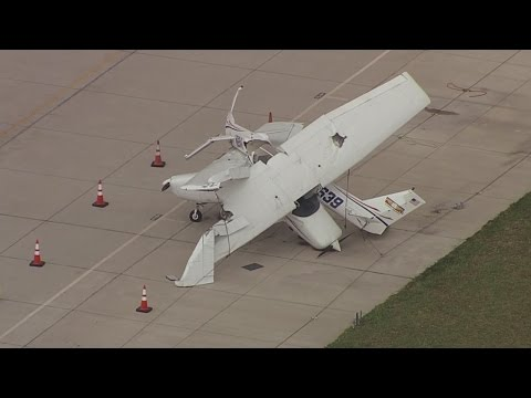 High Winds Toss Planes, Equipment At Denton Airport