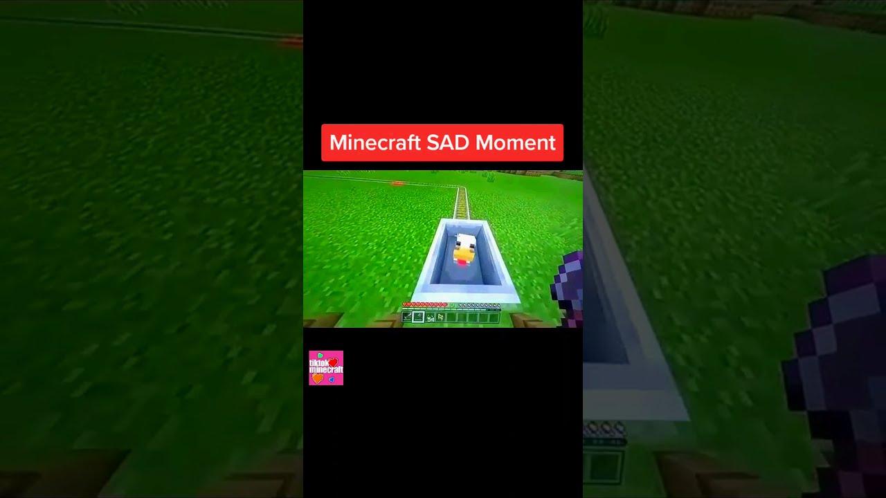 Minecraft SAD Moments + Funny Moments 2021 #Shorts