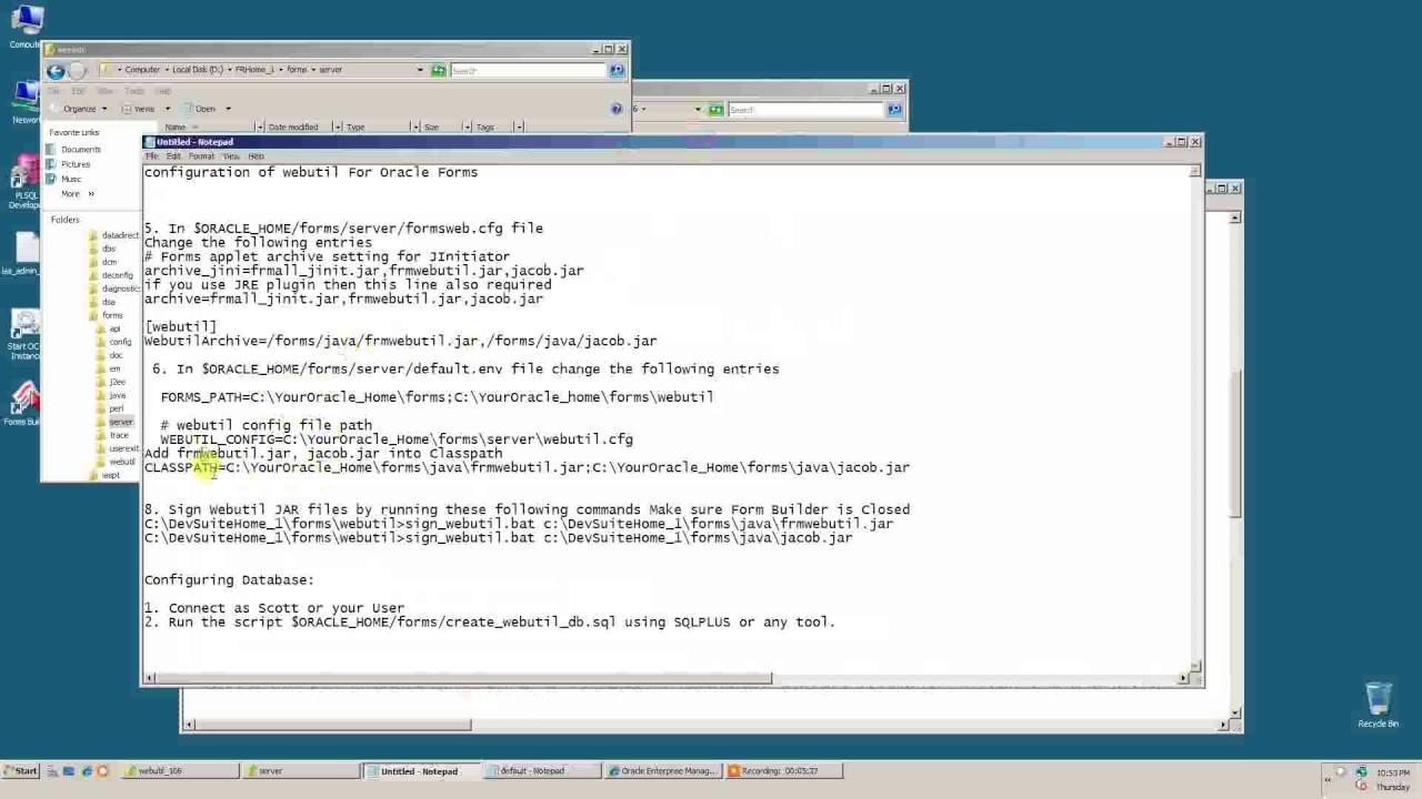 Hasan Jawaid: Webutil For Forms 10G