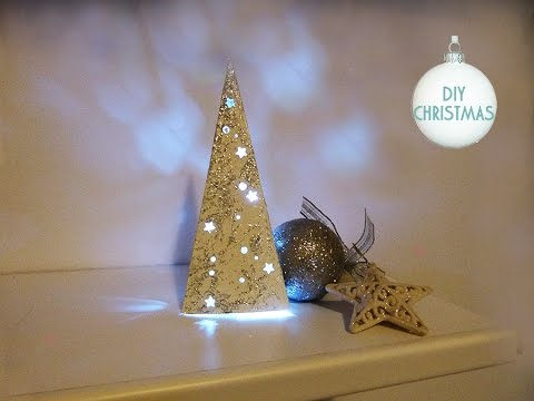 Diy Albero Di Natale Luminoso Fai Da Te Christmas Tree Youtube