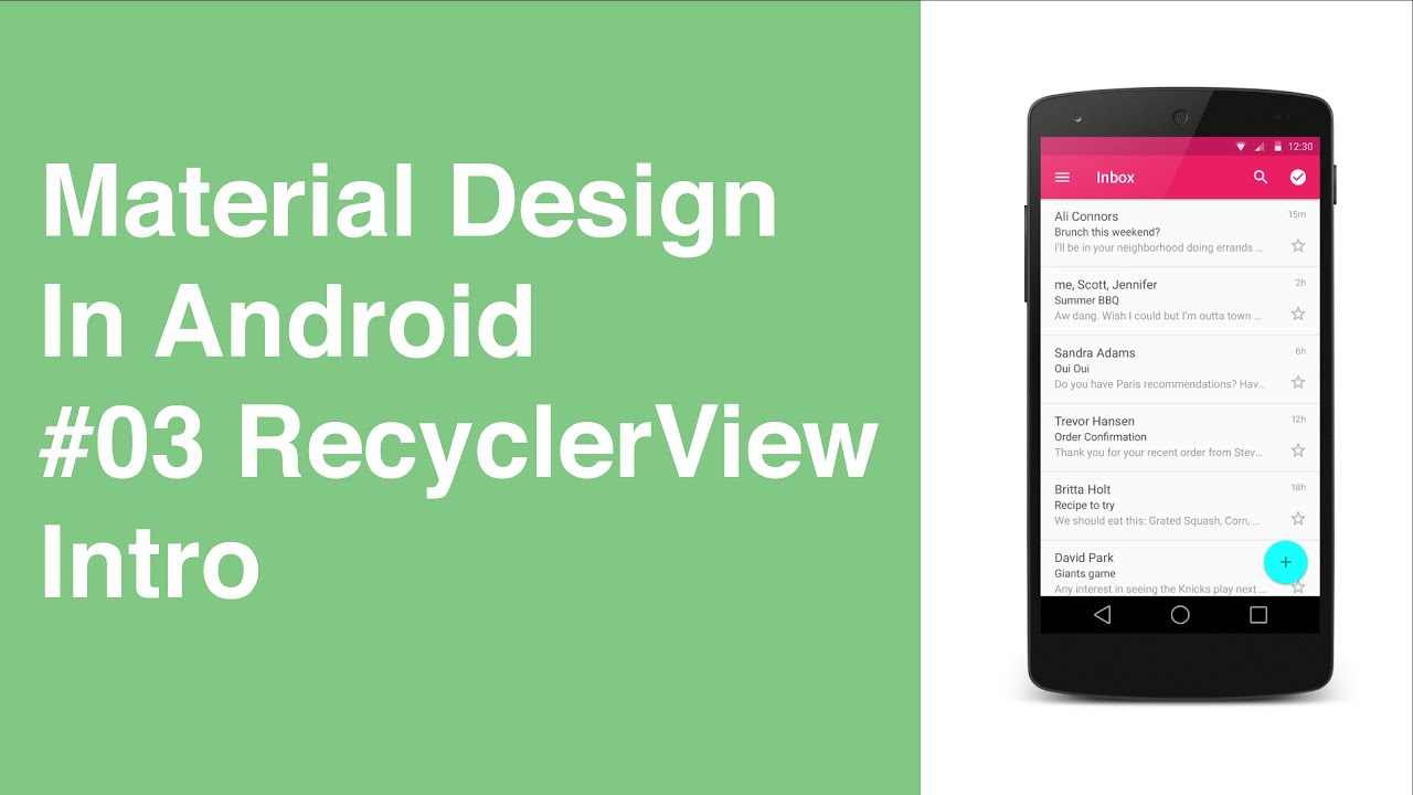 Simple Recyclerview Android Example