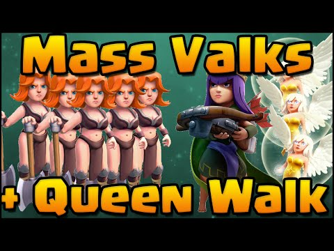 Clash of Clans - Strongest TH11 Attack Strategy | Mass Valkyrie + Archer Queen Walk