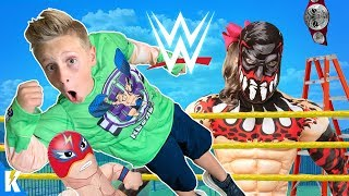 WWE Superstar Gear Test & Obstacle Course Challenge! KIDCITY