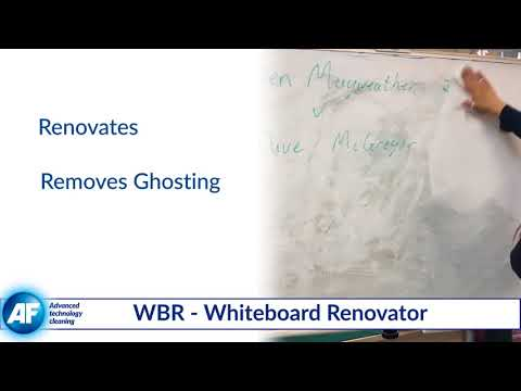How to remove white ghosting from whiteboard surfaces