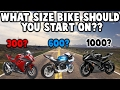 What size sportbike should you start on?