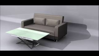 Modern Glass Coffee To Dining Table | The Cunningham