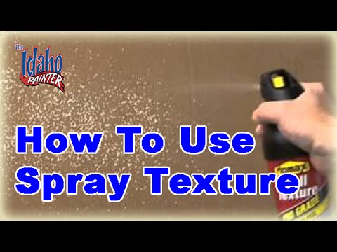 Patching a Hole in a Wall and Using Spray Texture Tips Using Homax