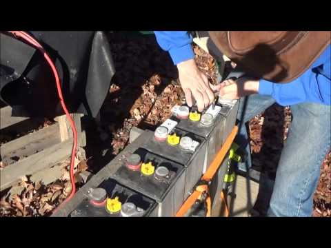 Wiring Up Forklift Battery Cells For Off Grid Solar Application