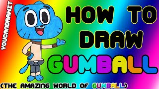 How To Draw Gumball Watterson from The Amazing World of Gumball ✎ YouCanDrawIt ツ 1080p HD