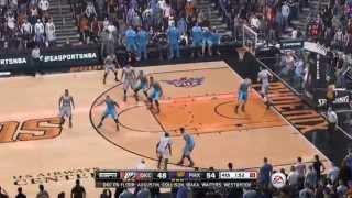 NBA 2015 - Oklahoma City Thunder vs Phoenix Suns - 4th Qrt - NBA LIVE 15 PS4 - HD