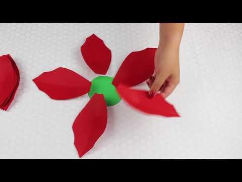 Christmas Flowers| Paper Flower Poinsettias