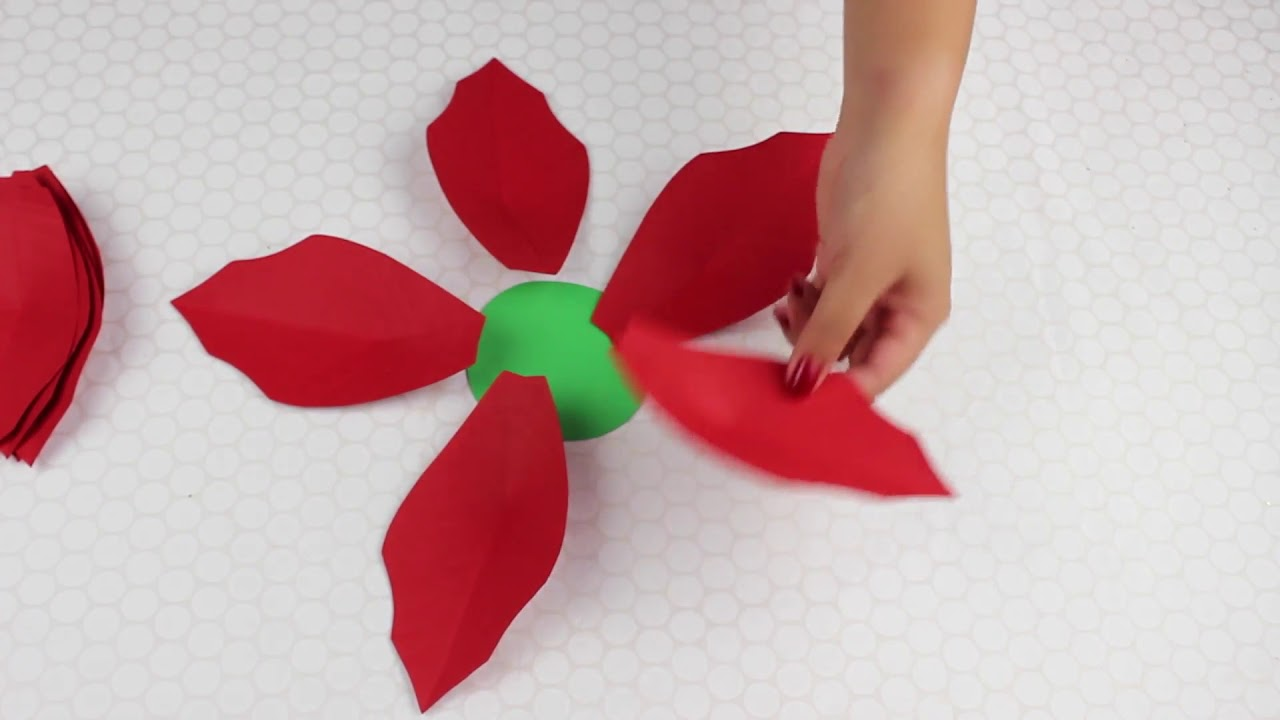 Christmas flowers paper flower poinsettias youtube christmas flowers paper flower poinsettias mightylinksfo
