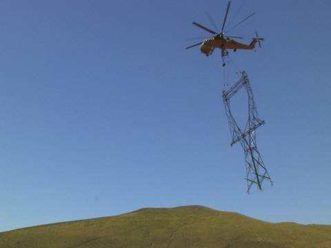 It's a Bird, It's a Plane, It's a Tower: Skycrane Construction on BPA's New 500kV Transmission Line