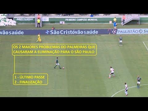 Os dois maiores problemas que causaram a eliminação do Palmeiras contra o São Paulo
