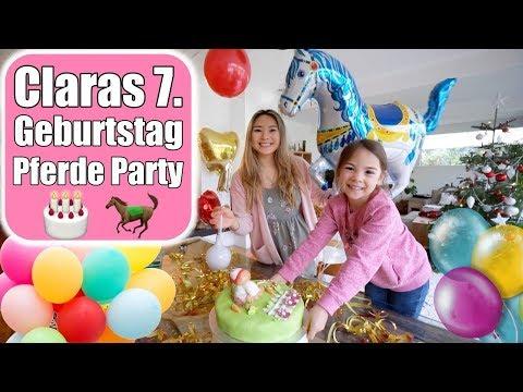 Claras Geburtstagsparty 🎂 Strahlende Augen & Geschenke auspacken | Pferde Torte machen | Mamiseelen