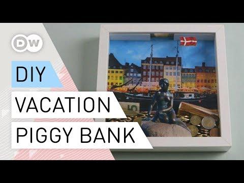 DIY - How to make a vacation piggy-bank