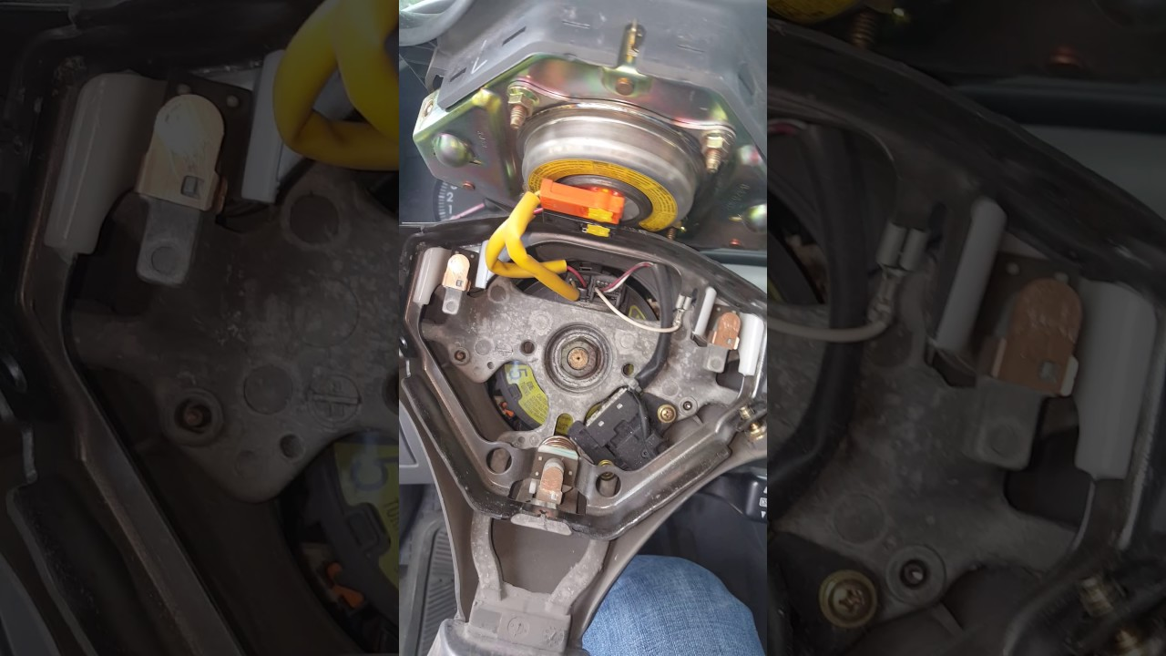 toyota tacoma horn wiring how to fix and clean the horn contacts surfaces from the steering  how to fix and clean the horn contacts