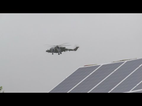 Military Helicopter flying very low over UK Residential Houses