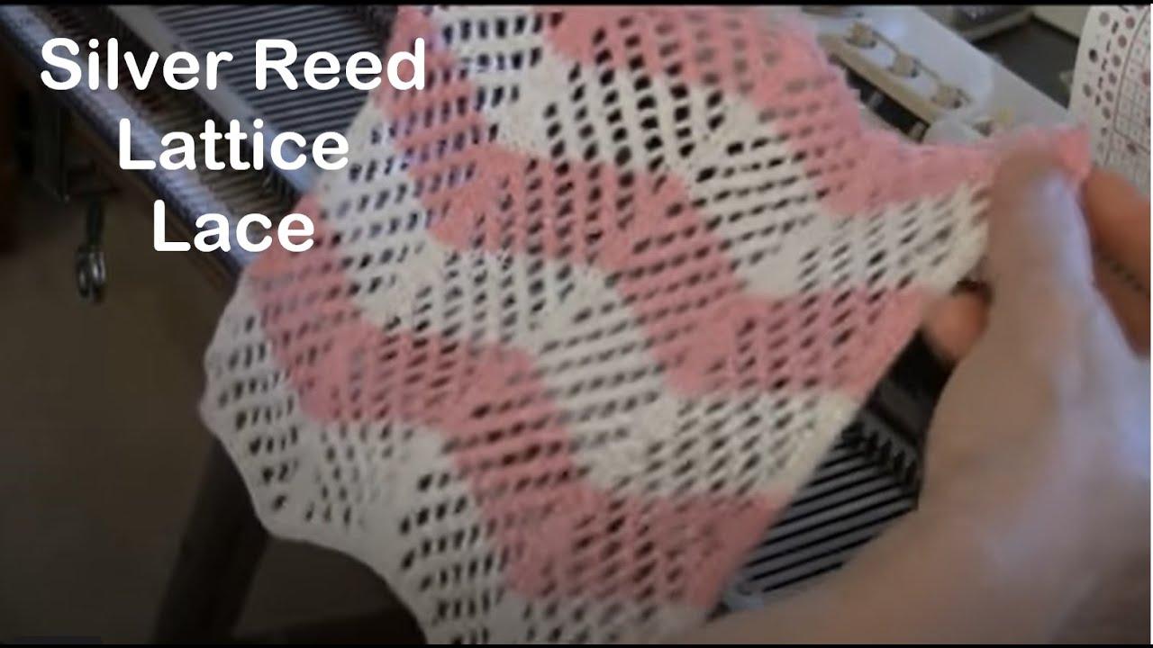 Knitting Machine Tutorial : Lattice lace on silver reed knitting machine by diana