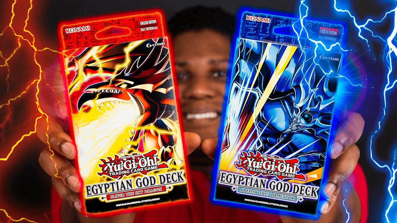 YU-GI-OH! EGYPTIAN GOD Duel! OBELISK vs SLIFER Decks!