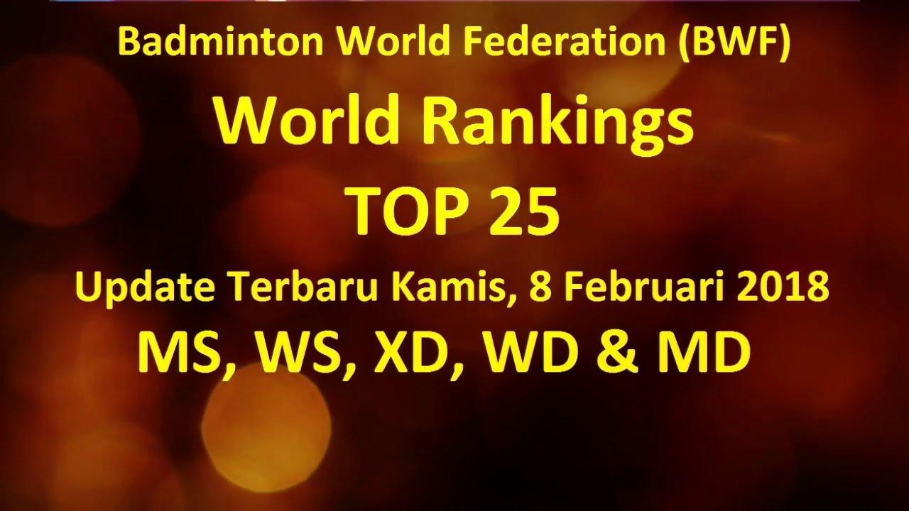 Ranking Bwf Terbaru 2021