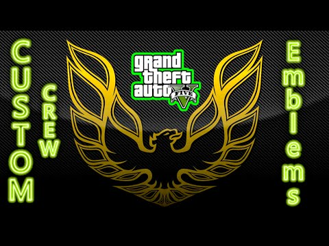 GTA 5 How to put custome crew emblems on your car and clothes after patch 1.35 (PS3)