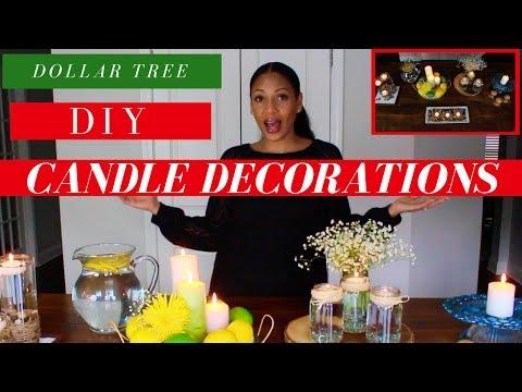 Dollar Tree DIY Home & Room Decorations | DIY Candle Centerpieces