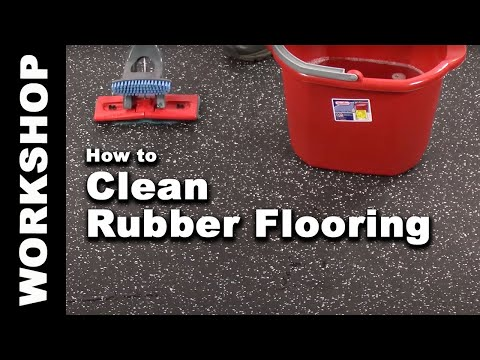 How to Clean Rubber Flooring in 4 Easy Steps