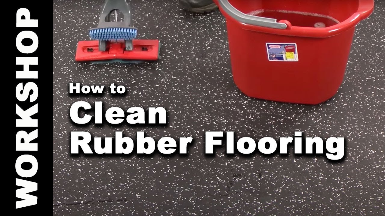 How To Clean Rubber Flooring In Easy Steps YouTube - How to clean black rubber gym flooring