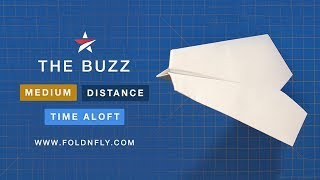 Fold 'N Fly ✈ The Buzz Paper Airplane